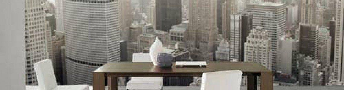 Добавете дълбочина в стаята с фототапет градски пейзаж
