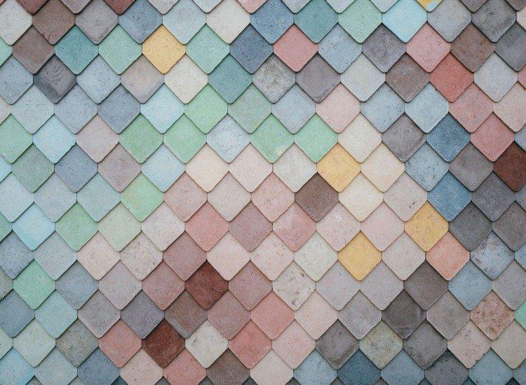 Текстури-Фототапет Цветен покрив