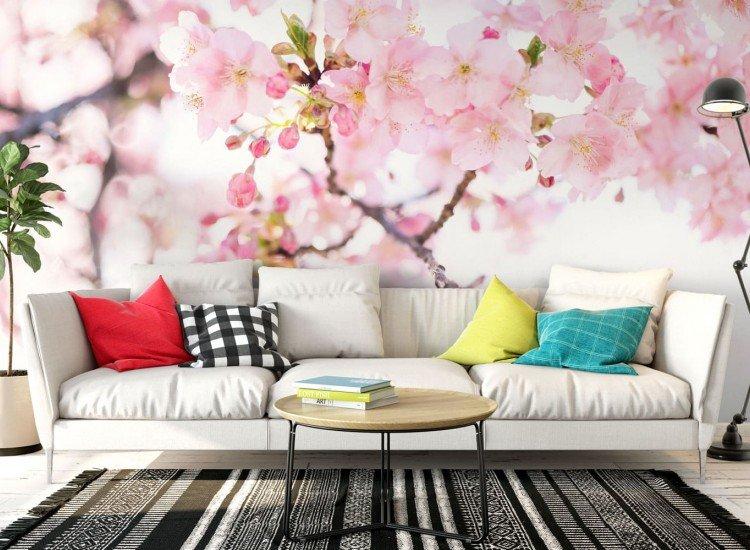 Цветя-Фототапет Нежни цветове