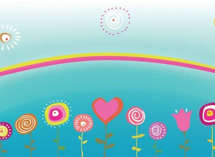 Детски фототапети-Фототапет Цветчета