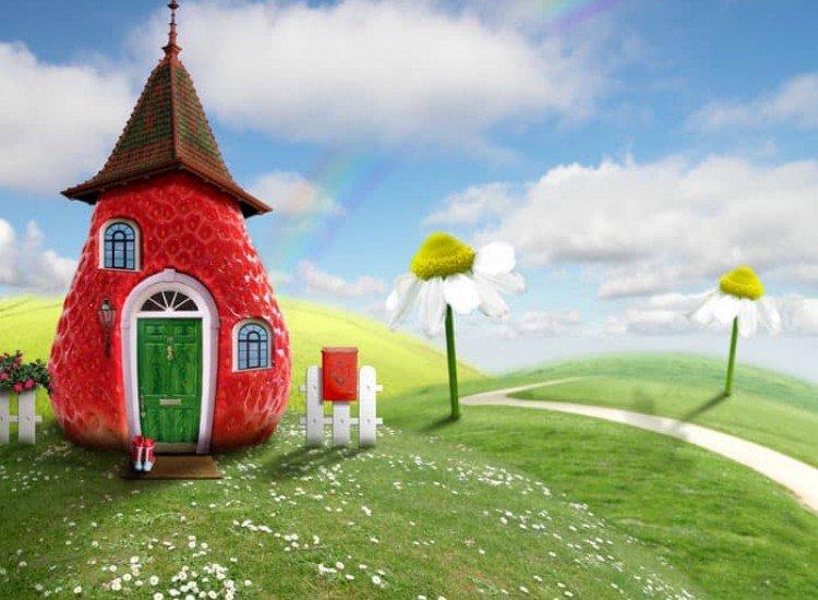 Детски фототапети-Фототапет Ягодова къщичка