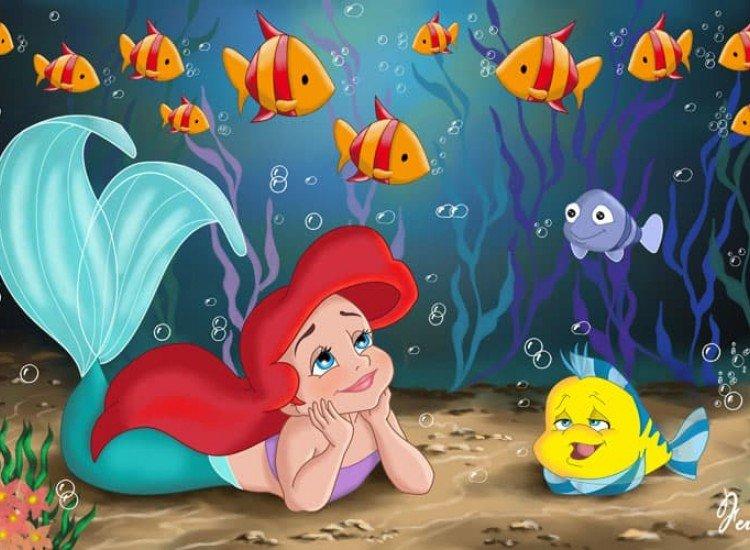 Детски фототапети-Фототапет Малката русалка Ариел