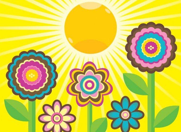 Детски фототапети-Фототапет Шарени цветя