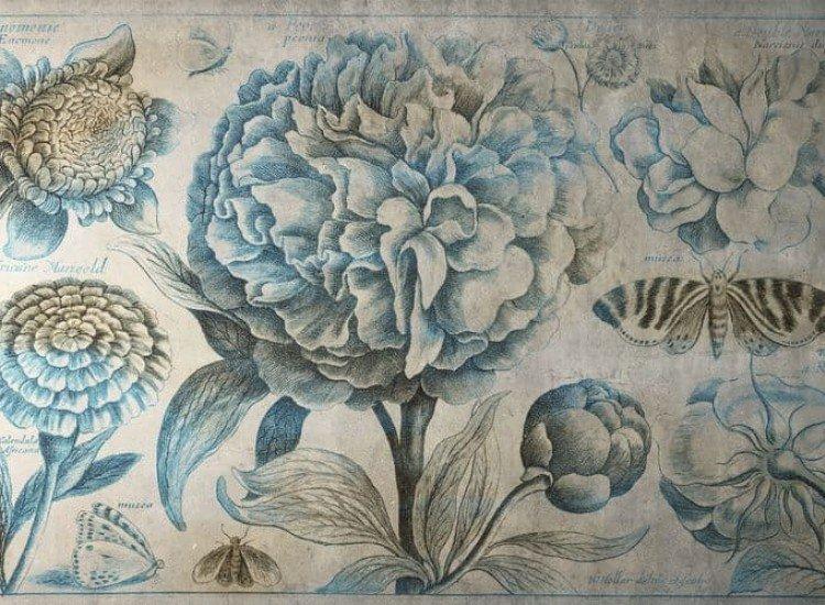 Цветя-Фототапет Винтидж флорален фон