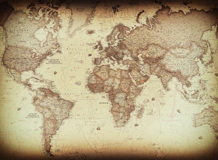 Карти-Фототапет Древна карта