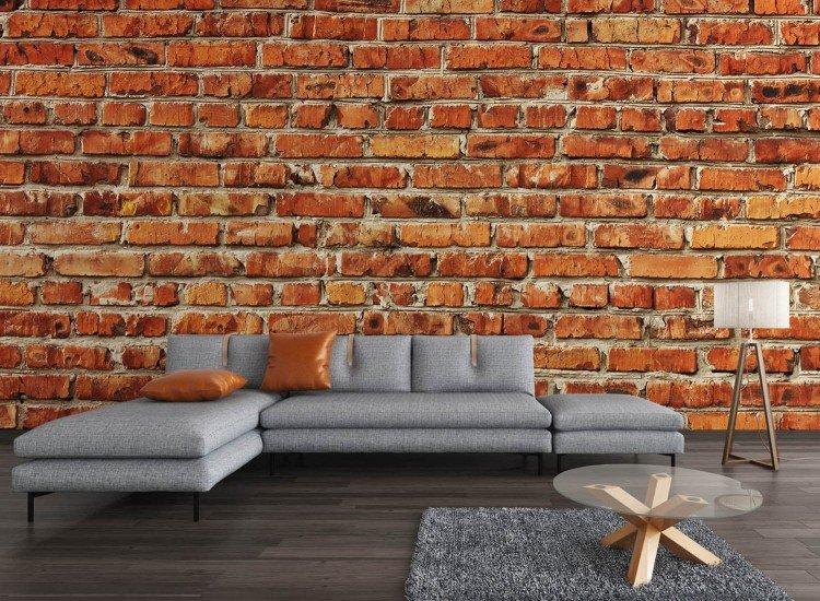 Текстури-Фототапет Червена тухлена стена