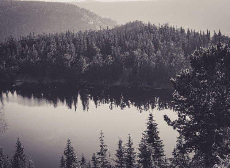 Пейзажи и природа-Фототапет Заснежена гора