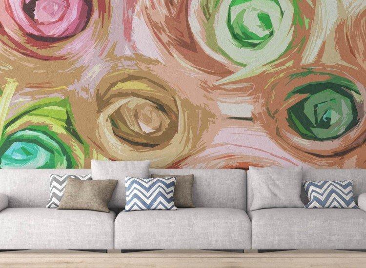Цветя-Фототапет Цветни рози