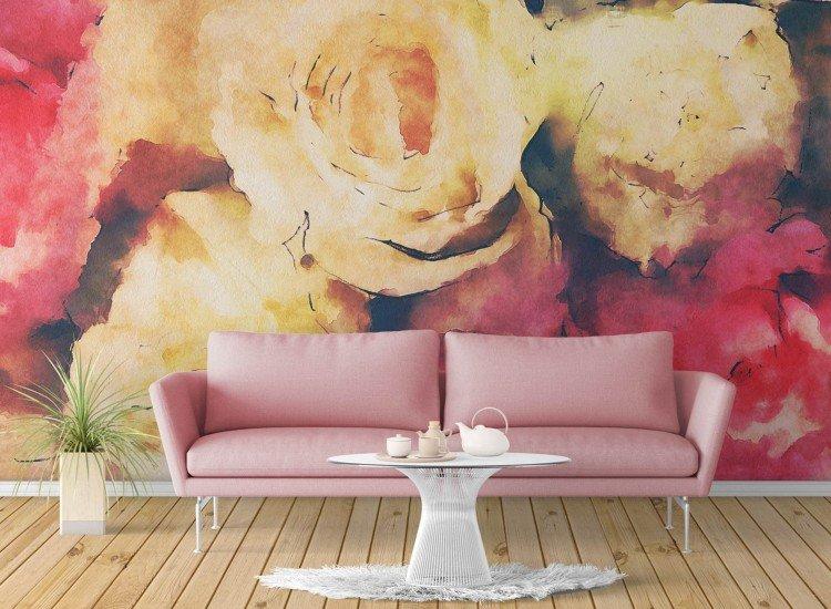 Цветя-Фототапет Ретро рози