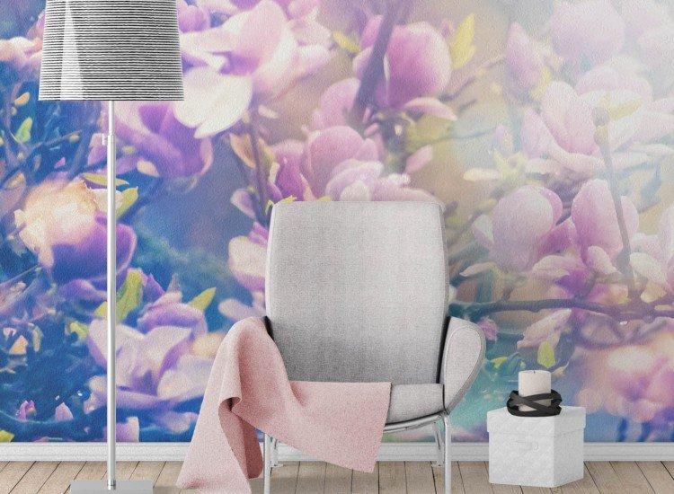 Цветя-Фототапет Магнолиеви цветове
