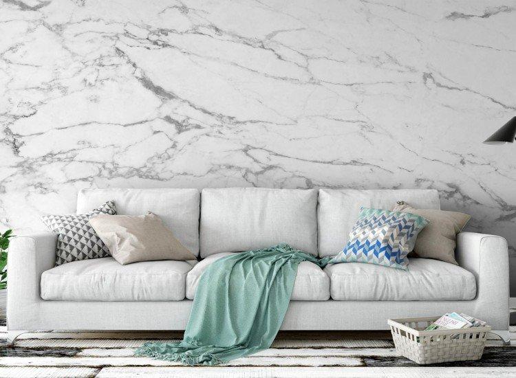 Текстури-Фототапет Бяла мраморна текстура