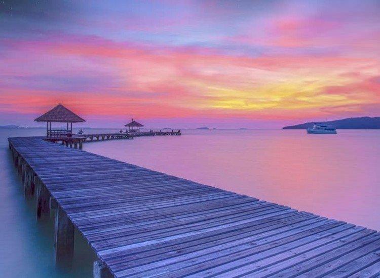 Пейзажи и природа-Фототапет Дървено пристанище