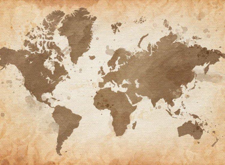 Карти-Фототапет Карта върху текстура