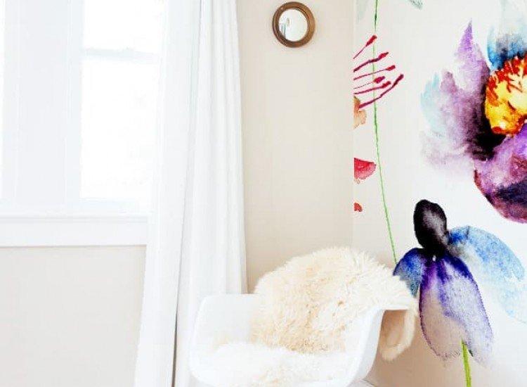 Цветя-Фототапет Акварелни цветя
