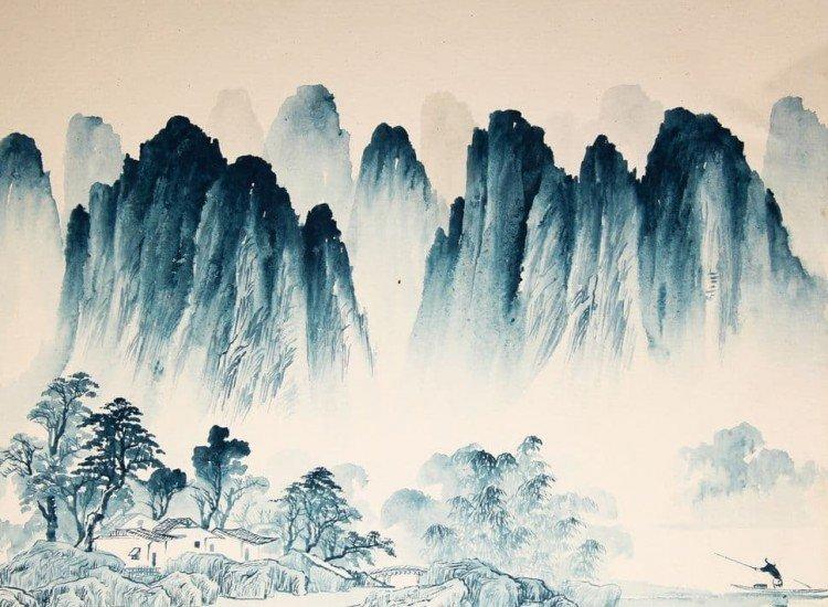 Фототапет Абстрактен китайски пейзаж - Фототапети БГ