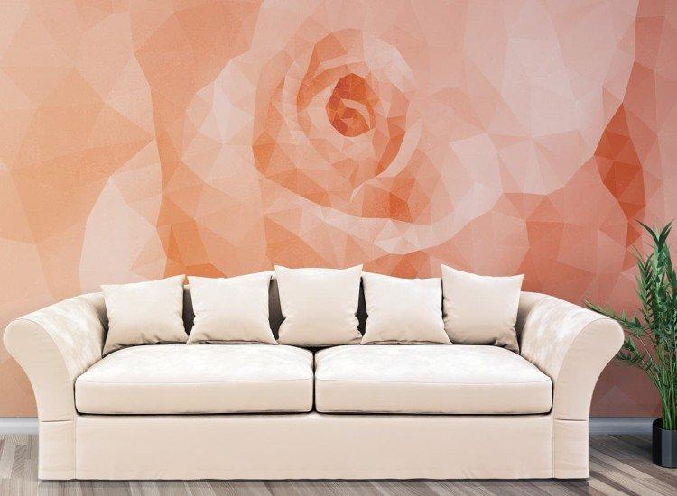 Фототапет Геомерична роза