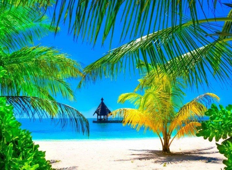 Морски и тропически-Фототапет Ваканция на Малдивите
