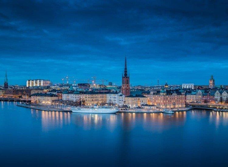 Градски пейзажи-Фототапет Стокхолм