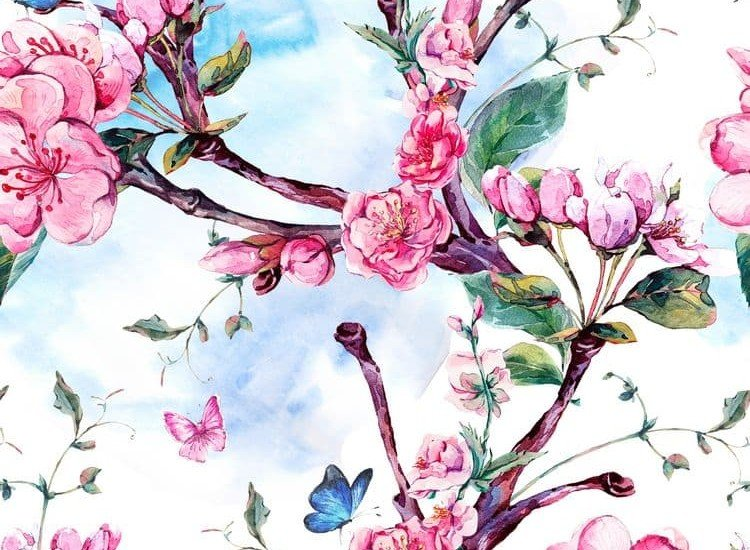 Цветя-Фототапет Свежи клони