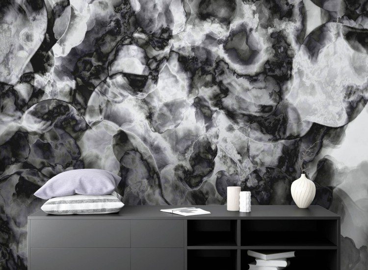 Фототапет Абстрактен черно-бял фон