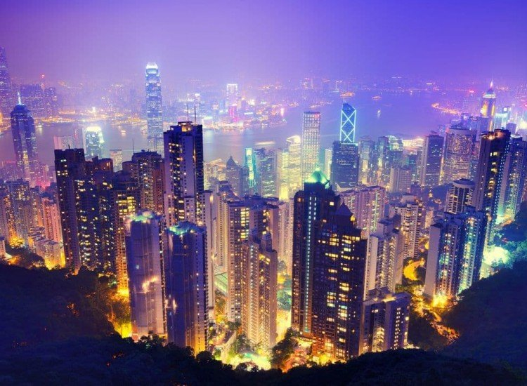 Градски пейзажи-Фототапет Хонг Конг