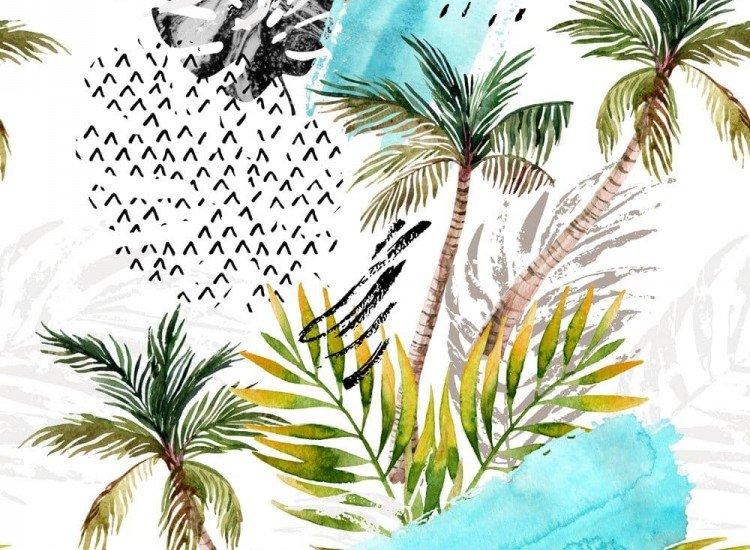 Растения-Фототапет Илюстрация с палми