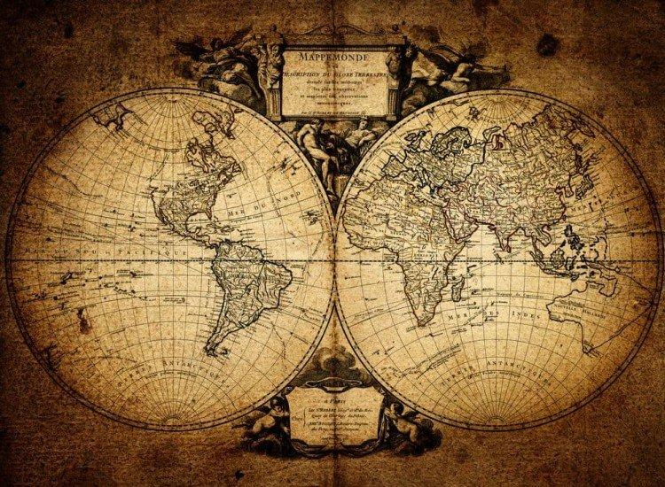 Карти-Фототапет Антична карта на света