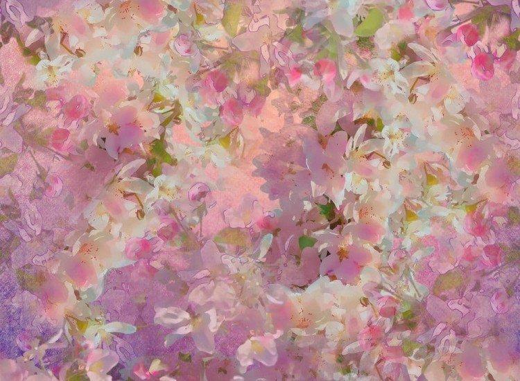 Цветя-Фототапет Абстрактна рисунка на цветя
