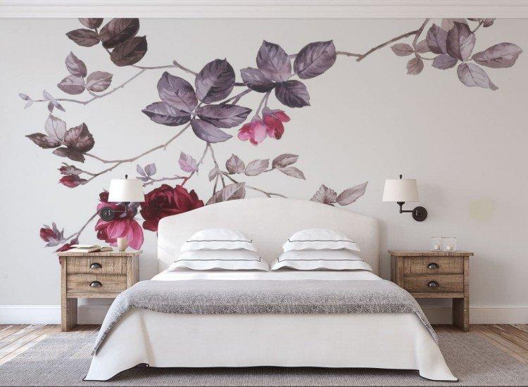 Цветя-Фототапет Рисувани рози