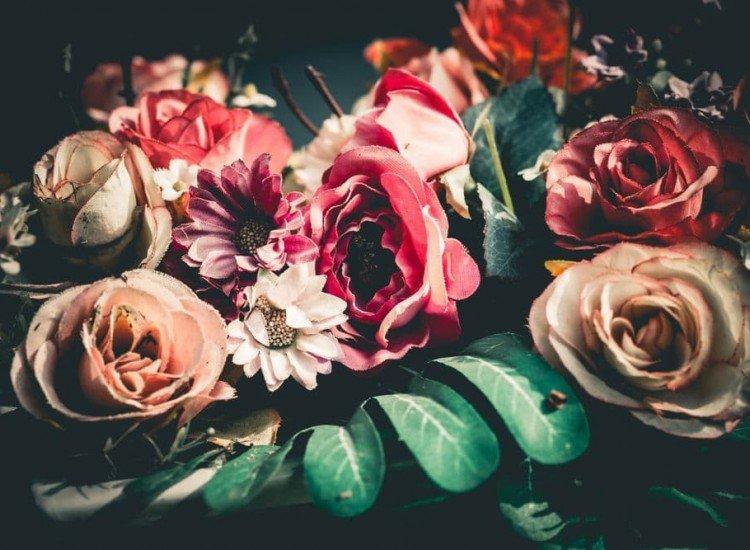 Цветя-Фототапет Текстилни цветя