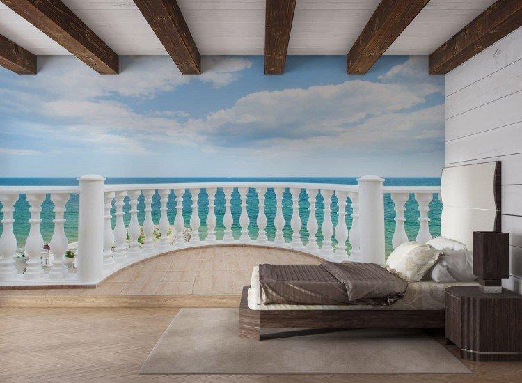 Морски и тропически-Фототапет Изглед от терасата