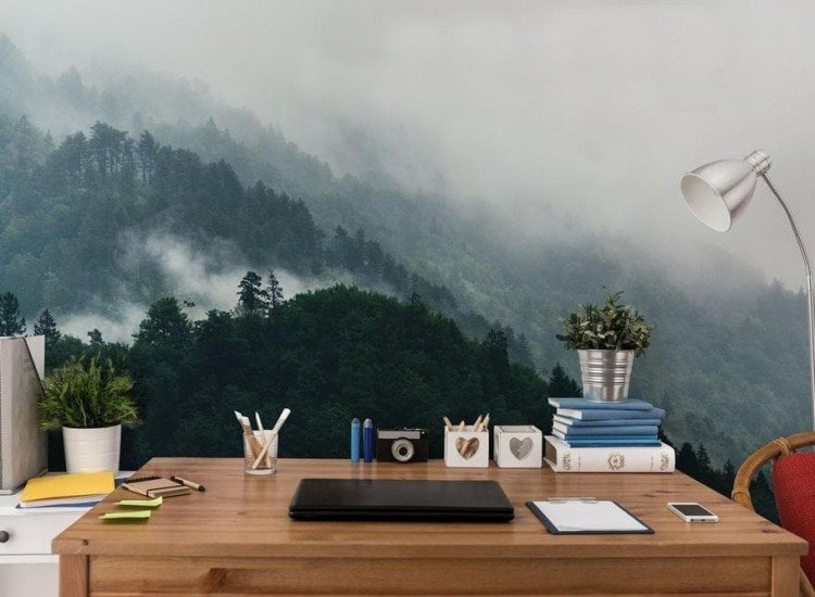 Пейзажи и природа-Фототапет Мъглива гора