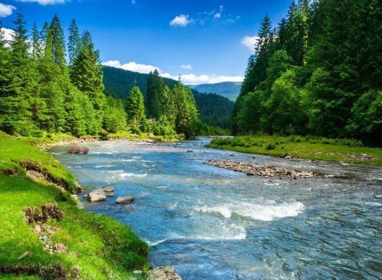 Пейзажи и природа-Фототапет Планинска река