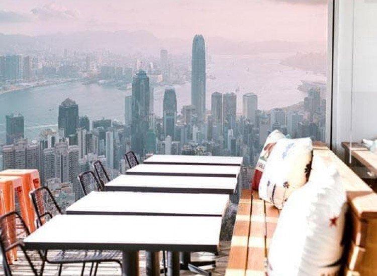 Градски пейзажи-Фототапет Връх Виктория Хонг Конг