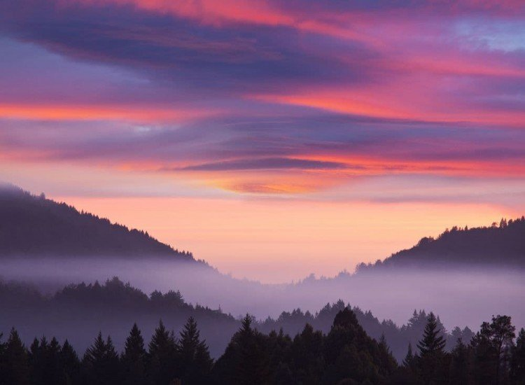 Пейзажи и природа-Фототапет Красив залез