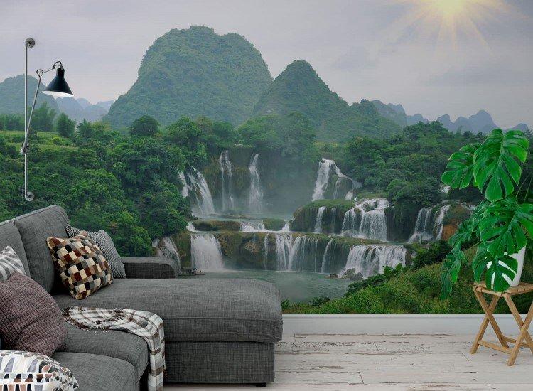 Пейзажи и природа-Фототапет Водопади във Виетнам
