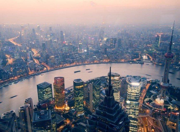 Градски пейзажи-Фототапет Шанхай