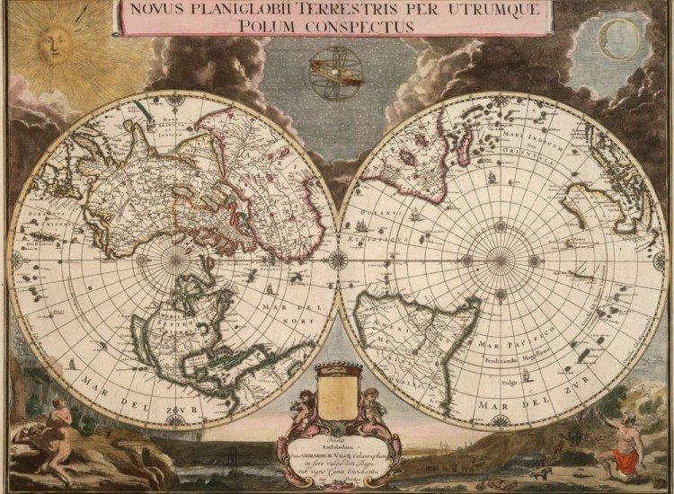 Карти-Фототапет Старинна карта