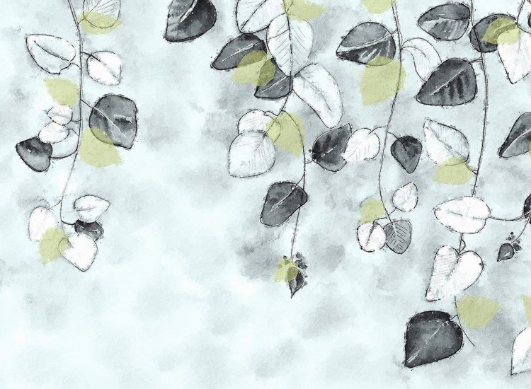 Растения-Фототапет Пролетни листа