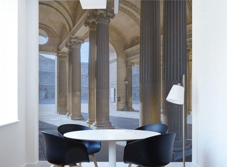 Архитектура-Фототапет Коридор в Лувъра