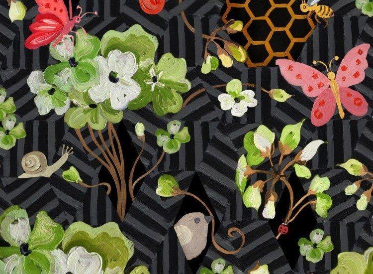 Цветя-Фототапет Пролет