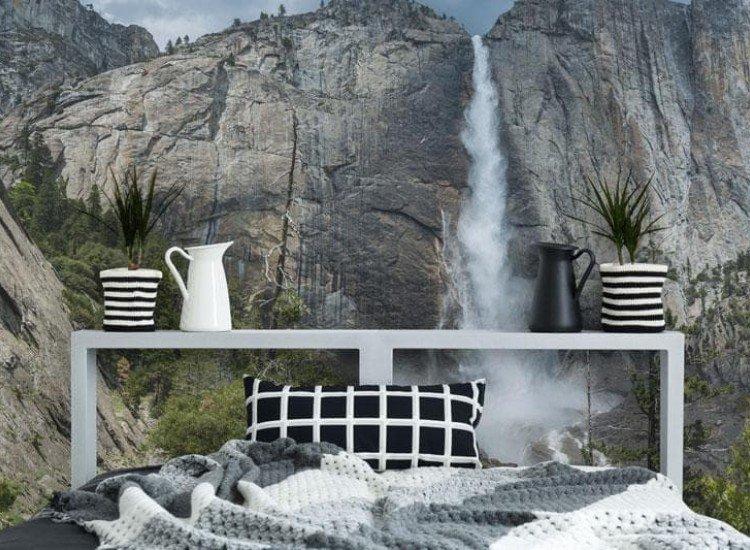 Пейзажи и природа-Фототапет Водопад Йосемити
