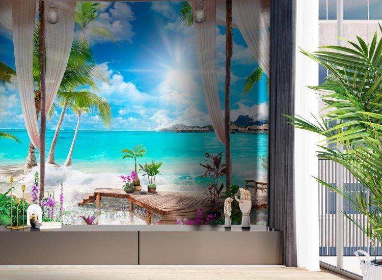 Морски и тропически-Фототапет Морска веранда