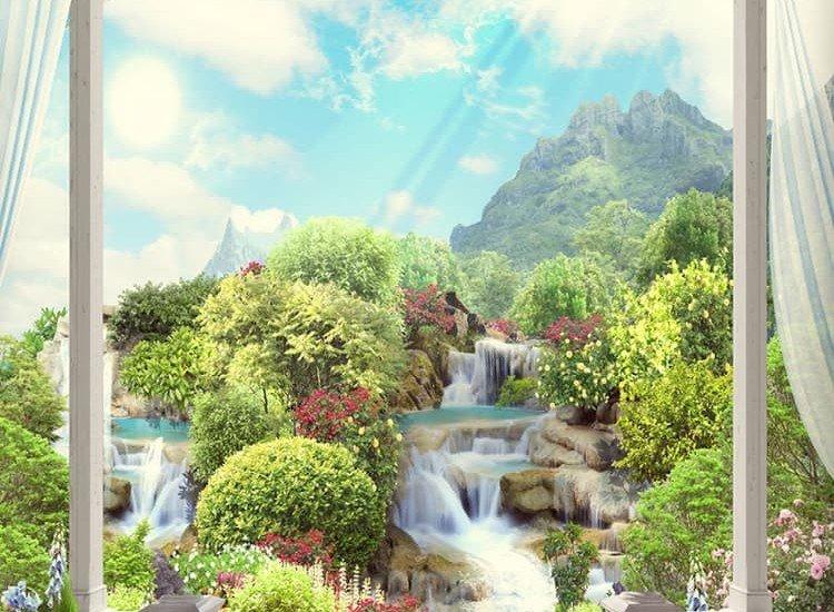 Пейзажи и природа-Фототапет Изглед от балкона