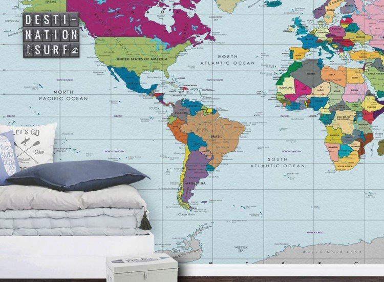 Карти-Фототапет Карта на света