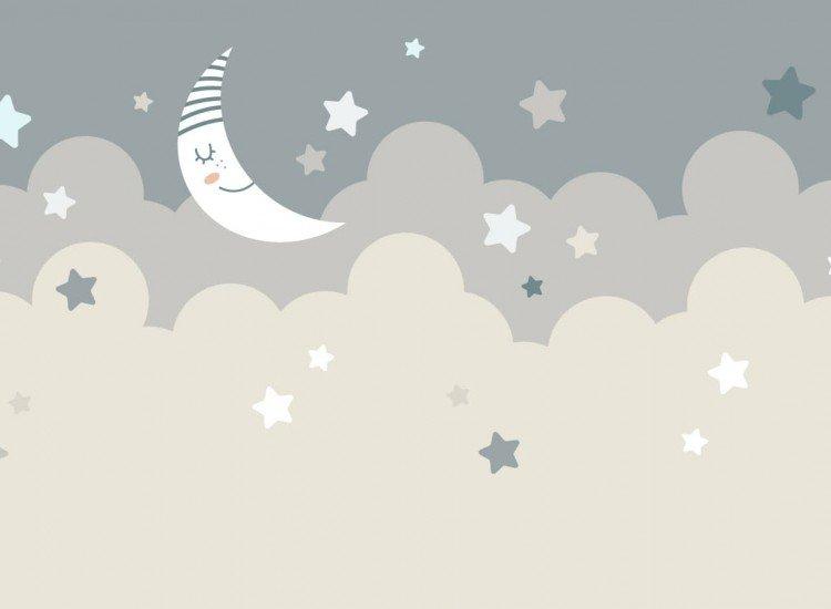 Детски фототапети-Фототапет Спяща луна