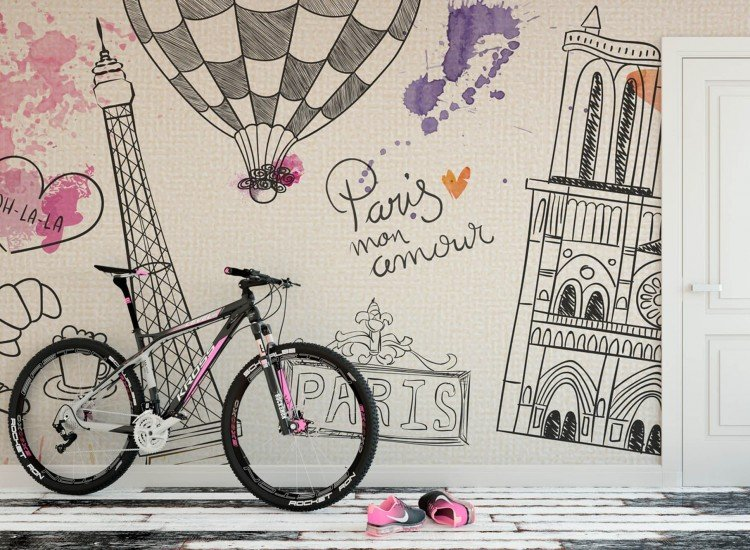 Детски фототапети-Фототапет Париж Mon Amour