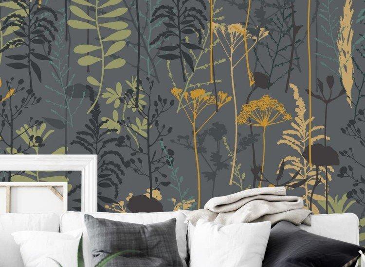 Винтидж фототапети-Фототапет Абстрактни цветя