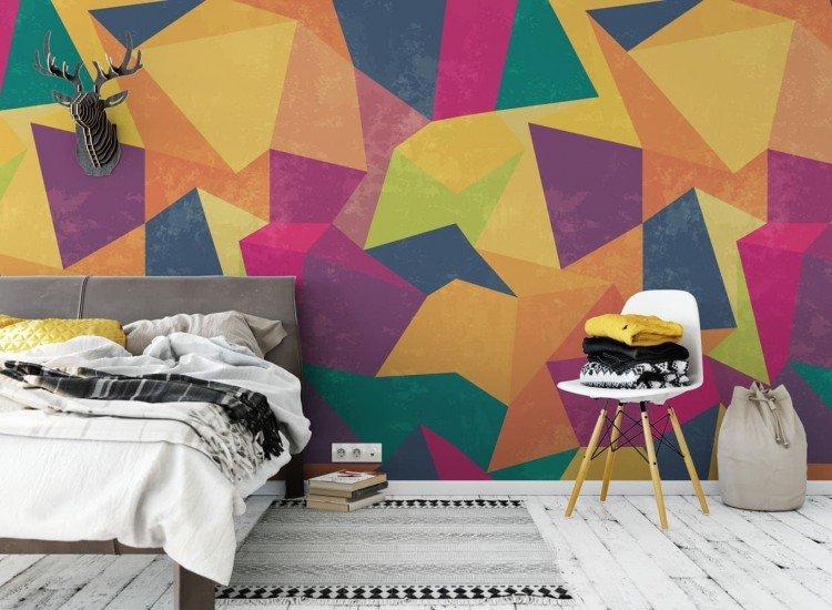 Фототапет Цветни триъгълници