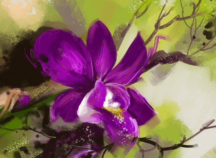 Цветя-Фототапет Рисувана орхидея